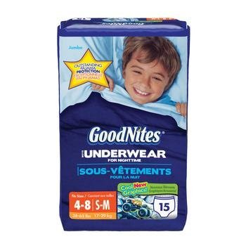 GoodNites Youth Underpants Size Small.Medium Gender Boys Kimberly Clark KBC21717 (Pack) by Kimberly-Clark
