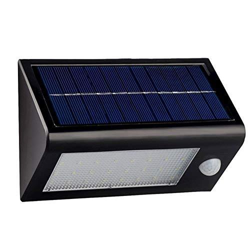 Uniquefire Schwarz Solarleuchte LED, 20 LEDs Solarlampe Sicherheits mit bewegungsmelder...