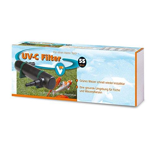 vt-146540-elektronischer-entferner-fur-schwebealgen-im-teich-bis-27500-liter-vt-uv-c-filter-55-watt