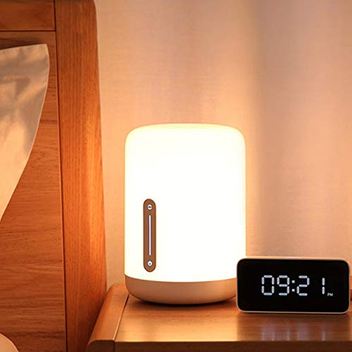 Lámpara de noche Wi-Fi regulable WRGB de Yeelight, interruptor de temporizador de soporte, trabajo de control de voz con HomeKit, Mi Home App