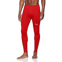 PUMA Liga Baselayer Long Pants, Hombre, Red, M