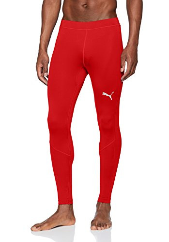 PUMA Erwachsene Liga Baselayer Long Tight Hose, Red, L
