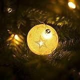 Weihnachtskugel mit Lichtern Weihnachtskugel Dekokugeln Weihnachten Kreativ Glänzend Weihnachtskugeln, LED plastik, Stern, 10 cm x 8 cm