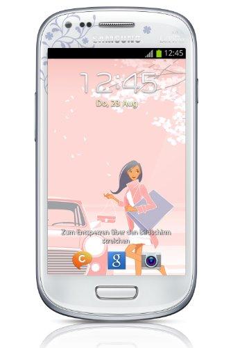 Samsung Galaxy S3 mini I8190 Smartphone (10,2 cm (4 Zoll) AMOLED Display, Dual-Core, 1GHz, 1GB RAM, 5 Megapixel Kamera, Android 4.1) La Fleur