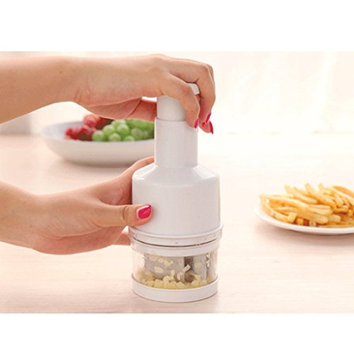 meyfdsyf Küche Werkzeug Mini Gemüse Zwiebel Ginger Chopper Schere (weiß)