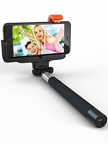 Mystique Bluetooth Selfie Stick, iSnap X Extendable Monopod with Built-in Bluetooth Remote Shutter for iPhone 7/7P/6s/6P/5S, Galaxy S5/S6/S7/S8, Google, LG, Lenovo, Vivo, Oppo, HTC, Huawei and More by MYSTIQUE MALL