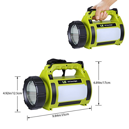 LED Handscheinwerfer wiederaufladbare Akkulampe dimmbar  Abbildung 2