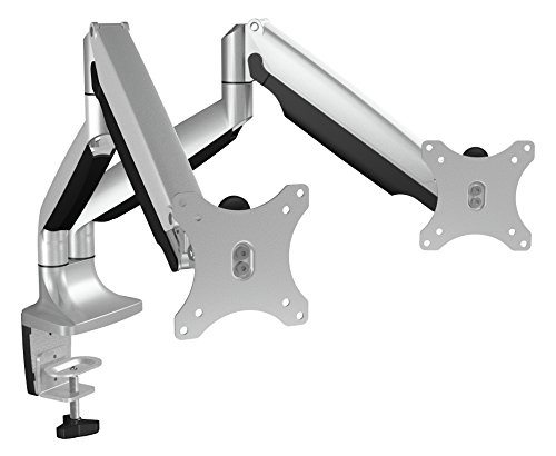 Icy Box IB-MS504-T Monitor-Tischhalterung für zwei Displays bis zu 32 Zoll (81cm) Vesa, Kabelführung, Dreh-/neigbar, Ergonomisch Standard Retail-pc