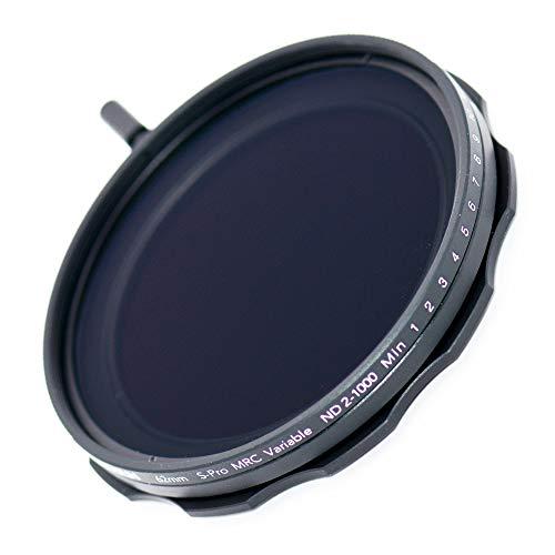 JONGSUN Variable ND Filter 62mm, S-Pro HD MRC 16-lagige Nanobeschichtung, ND2-ND1000, Kameraneutraler Dichtefilter