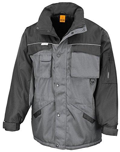 RT72 Workguard Heavy Duty Combo Coat Jacke Arbeitsjacke Winterjacke winddicht L,Grey-Black -