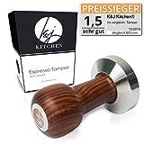 K&J Kitchen® Barista Tamper - Präziser 51mm Stempel für Siebträger Kaffeemaschinen - Extra schwere TamperBasis zum perfekten Verdichten