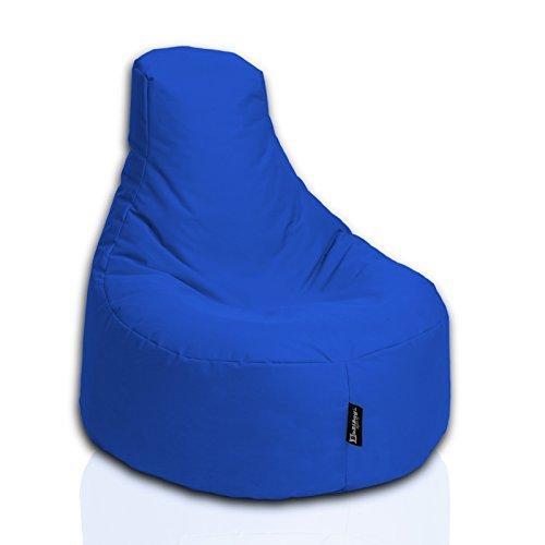 BuBiBag Gamer Kissen Lounge Sitzsack Sessel original Sitzkissen In & Outdoor geeignet fertig befüllt in 31 Farben (blau)