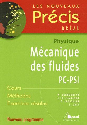 Mcanique des fluides PC-PSI