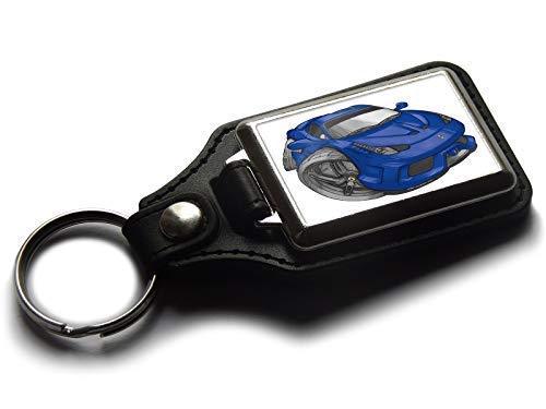Koolart Karton Auto Ferrari 458 Speciale Leder und Chrom Schlüsselanhänger Wählen Sie eine Farbe - Blau