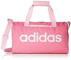 Idea Regalo - adidas Linear Core - Borsa a mano Unisex Adulto, Rosa (Solar Pink/True Pink), 15x20x37 cm (W x H L)