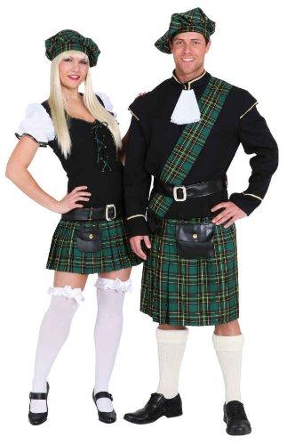 Schotte grün Herren Kostüm als Highlander zu Karneval Gr.54/56 (Schotte Kostüm)