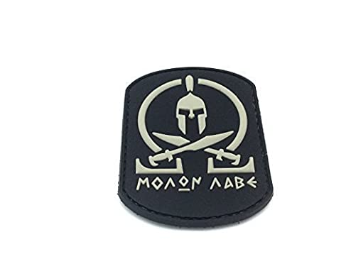 Molon Labe Airsoft Paintball Patch Black
