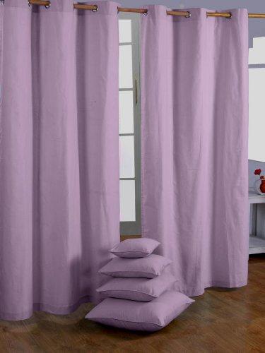 Homescapes Par de Cortinas Opacas Decorativas, 100% algodón con Ojale