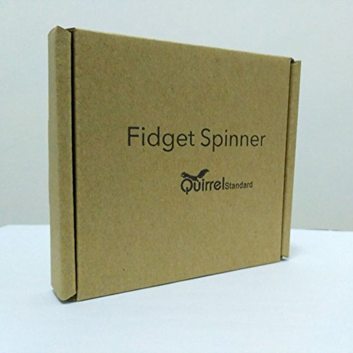 Fidget Hand Spinner, Zinc Alloy EDC Hand Spinner Focus Toy, High Speed 1-3 Minute Spins - Black -