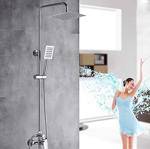 R&P Quadratischer Duschsatz, Multifunktions-Brausemischer für den dritten Gang, Spritzpistole Badezimmer Kupferhahn, Silikon-Wasserdüse (Badewanne Wasserdüsen)