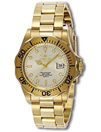 Invicta Men's 41mm Gold Plated Bracelet & Case Swiss Quartz Gold-Tone Dial Analog Watch 2155