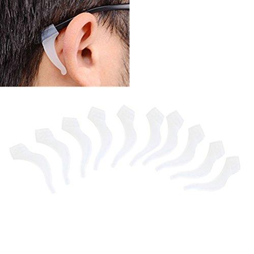VORCOOL 5 Paar Silikon Anti-Slip-Brillen-Ohr-Verschluss-Brillen-Halter Kinder und Erwachsene Sport-Brillen-Bügel-Halter für Brillenstück, Ohrbügel, Brillen-Tempel-TIPP - Brille Fitnessstudio