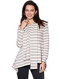 3dc2c82471c63e KRISP® Women Striped Jumper Ladies Wool Knit Oversized Sweater Pullover Top  Scarf