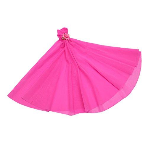 Strapless Rose (Sharplace Modische Puppen Party Kleidung - Trägerlosen Abendkleid Ballkleid - Outfit Für Barbie Puppe - Rose)