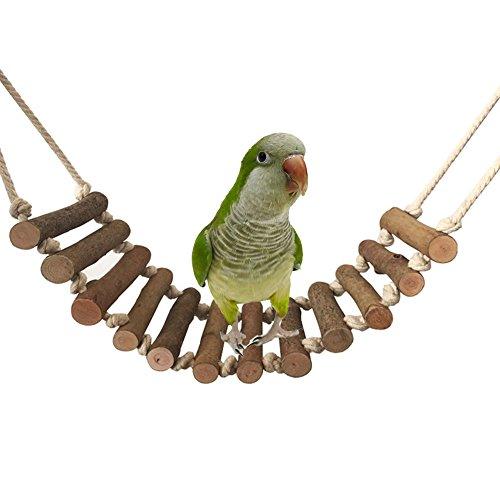 50 cm madera Natural de escalada escalera columpio de pájaros juguete para Parrot Budgies periquito...