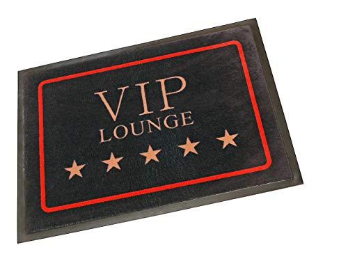 Hanse Home Fußmatte Schmutzfangmatte VIP Lounge Schwarz, 40x60 cm