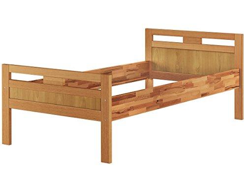 Massivholzbett Seniorenbett Buche natur 100x200 Einzelbett Hohes Bett Komforthöhe 60.74-10 oR