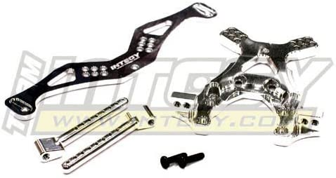 Integy RC Model Hop-ups T7845SILVER Alloy Front Shock Tower Set for Associated SC10 2WD | Durable En Usage