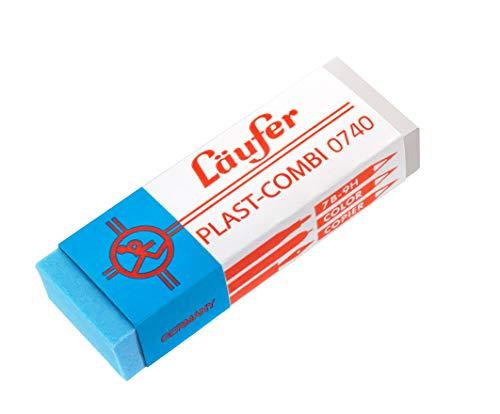 Combi 0740 Radierer, Radiergummi für Bleistifte, Farbstifte, Tinten und Tuschen, transparent-blau ()