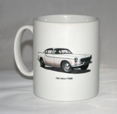 Classic Car Mug. Volvo P1800 Coupe and pillar badge for sale  Delivered anywhere in Ireland
