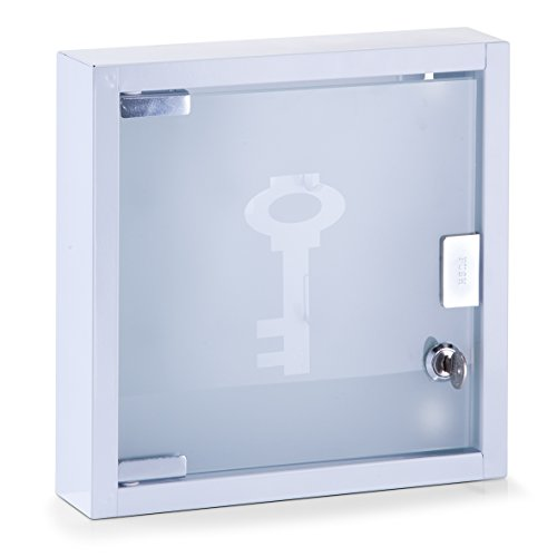 Zeller 13842 Schlüsselkasten, weiß, circa 25 x 6 x 25 cm
