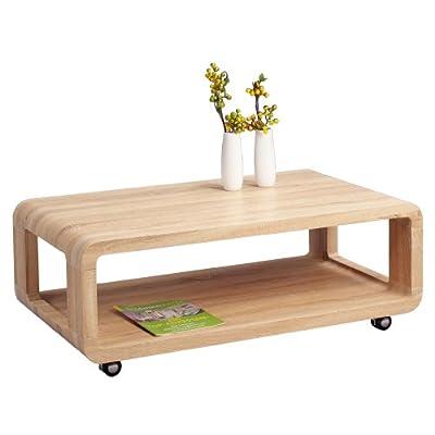 HomeTrends4You 218242 Tavolino da salotto, 105 x 40 x 60 cm, decorazione quercia Sonoma
