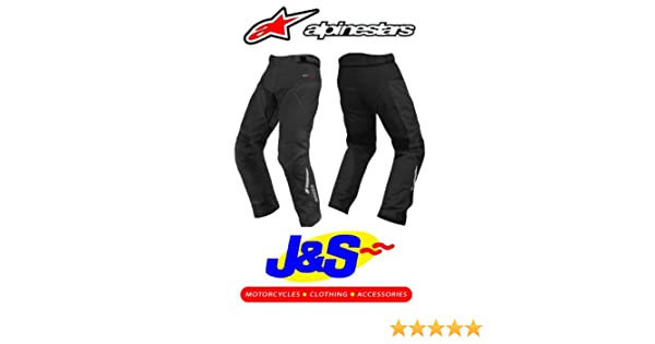 EXTRA LARGE XL ALPINESTARS ANDES SHORT LEG MOTORCYCLE TROUSERS WATERPROOF MOTORBIKE JEANS BLACK J/&S