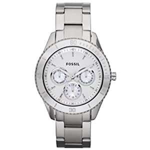 Fossil Damen-Armbanduhr Analog Quarz Edelstahl ES3052