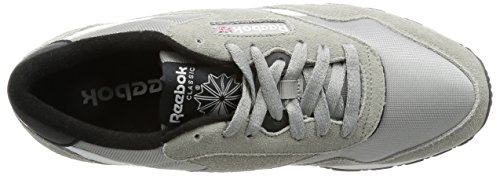 Reebok Herren Classic Nylon Tracksuit Low-Top Grau (Mgh Solid Grey/White/Black)