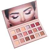 SMILEQ 18 Farben Lidschatten INS Same Style Makeup Perle Metallic Lidschatten Palette Make (18 Farben, Multicolor)