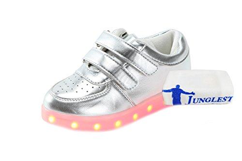 [+Kleines Handtuch]Kinderschuhe USB Lade Licht Jungen emittierende Schuhmädchenschuh leuchtende LED beleuchtete Sportschuhe großer Junge Sc c2