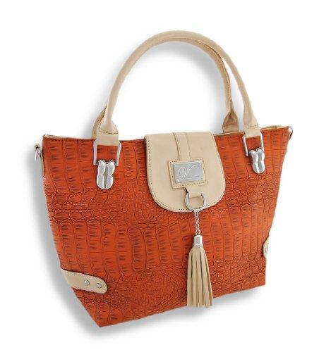Things2Die4 , Damen Schultertasche, orange - Orange - Größe: One Size -
