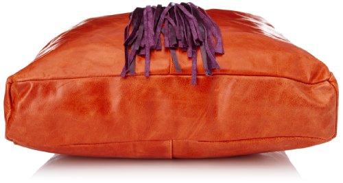 Sous les Pavés Hemingway, Sac porté main Rouge (Vintage Feu/Pompon Cyclamen)