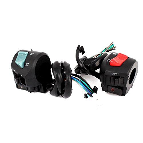 sourcingmap® Moto Sinistro E Destro Maniglia Starting Interruttore Di Combinazione DC 12V/24V