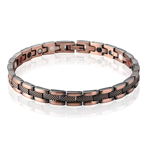 Schmuck Europa Und Die Vereinigten Staaten Original-Design Verfügt Über Rotes Kupfer Männer Und Frauen Magnet Armband Rotes Kupfer Armband