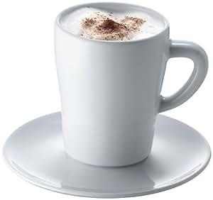bodum loch in einem cappuccino tasse teller 4 st ck k che haushalt. Black Bedroom Furniture Sets. Home Design Ideas
