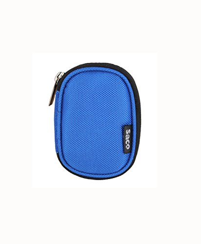 Saco Multi-Purpose Pocket Storage Travel Organizer Holder with keeper keychain manager tangle Carry Case Pouch for Philips GoGear MiniDot Mini 2GB Sound-Dot Portable MP3 Player– (Blue)  available at amazon for Rs.180