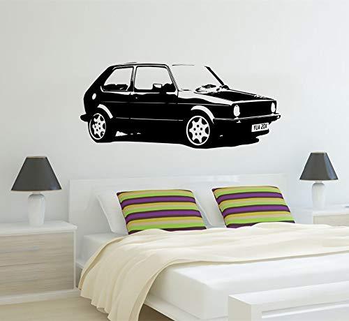 tage XL Große Auto VW Golf GTI Mk1 Klassische Wandkunst Aufkleber Aufkleber Dekoration Kunstwand Room Sticker 42 * 110 cm ()