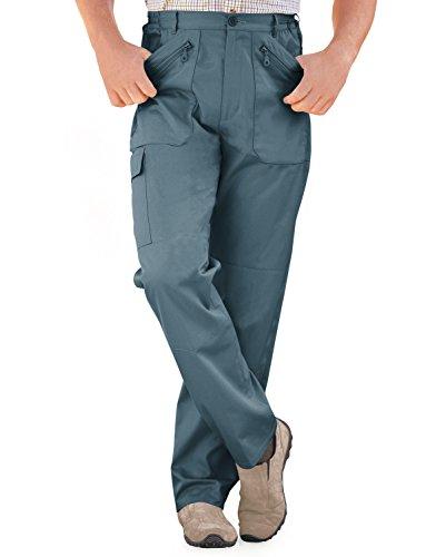 Mens Elasticated Multi Pocket Cargo Combat Work Trousers