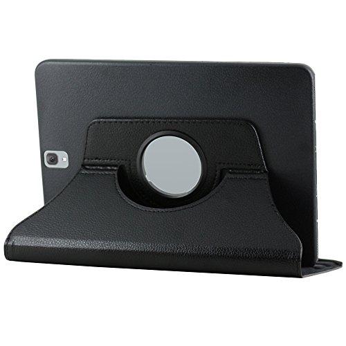 ebestStar - kompatibel Samsung Galaxy Tab S3 9.7 Hülle SM-T820, SM-T825 Rotierend Schutzhülle Etui, Schutz Hülle Ständer, Rotating Case Cover Stand, Schwarz [Tab: 237.3 x 169 x 6mm, 9.7\'\']